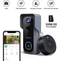 MECO 1080P WiFi Video Doorbell Camera with Free Chime