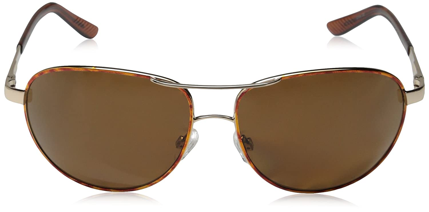 9c4bb58b6f Amazon.com  Suncloud Aviator Polarized Sunglass (Gold Frame Brown Polar  Lens)  Sports   Outdoors