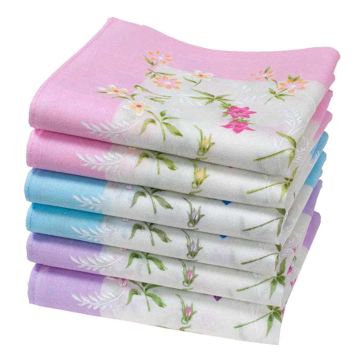 "Abby handkerchiefs for ladies - 14"" square - 6 units Merrysquare"