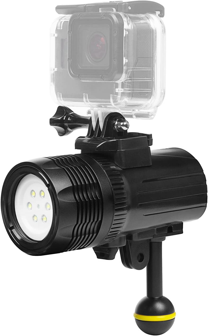 SHOOT Handheld Pro Diving Flashlights Torch for Osmo Action Camera GoPro Hero 8//7//6//5//4//3+//3 1000LM,Waterproof 60m,CREE XM-L R3,120/° Wide Angle,6500K Color Temperature,2000mAh Rechargeable Battery