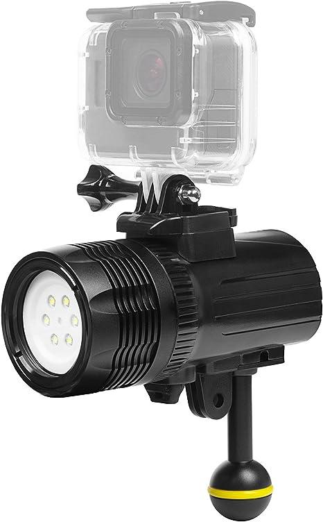 Lighten 1000lm Unterwasser Taschenlampe Unterwasser 60m Wasserdicht Submarine Licht Wiederaufladbare Batterie Led Video Licht Füllen Nachtlicht Für Gopro Hero 7 Apeman Akaso Victure Actioncam Sport Freizeit