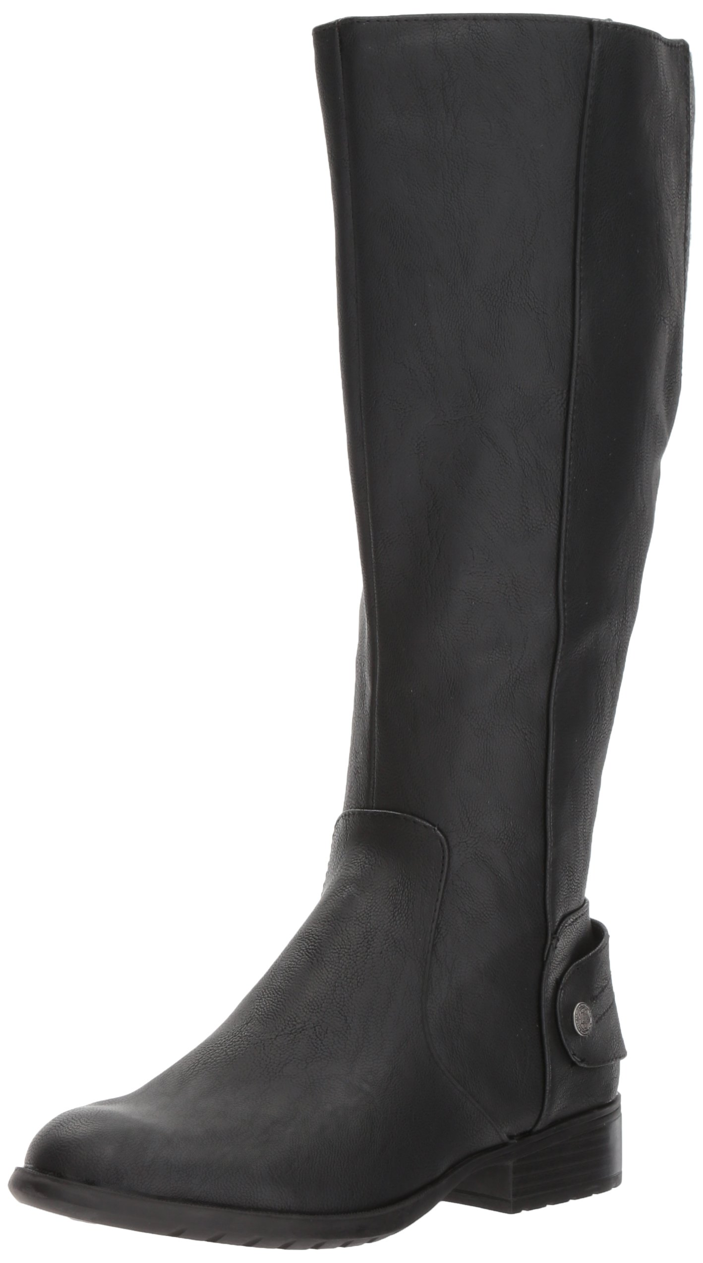 LifeStride Women's Xandy Equestrian Boot, Black, 9 W US