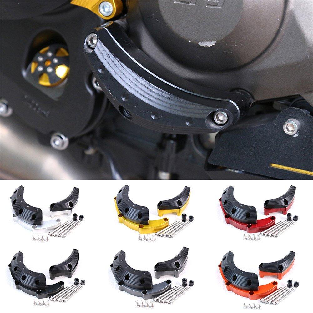 QAZWSX Motorrad-CNC-Maschinen-Schutz-Fall-Schieber-Abdeckungs-Schutz Stellte F/ür Yamaha MT-09 FZ-09 MT09 MT 09 2014-2016 2017 EIN