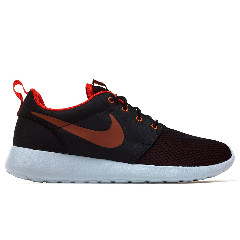 Nike Herren Roshe One SE Textil Sneaker  445 EU|Rot (Max Orange/Black)