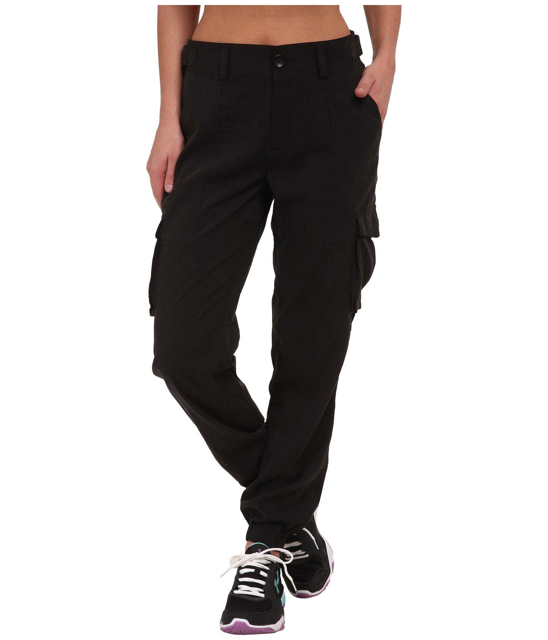 Under Armour Womens UA Slim Air Woven Cargo Pants Large Black