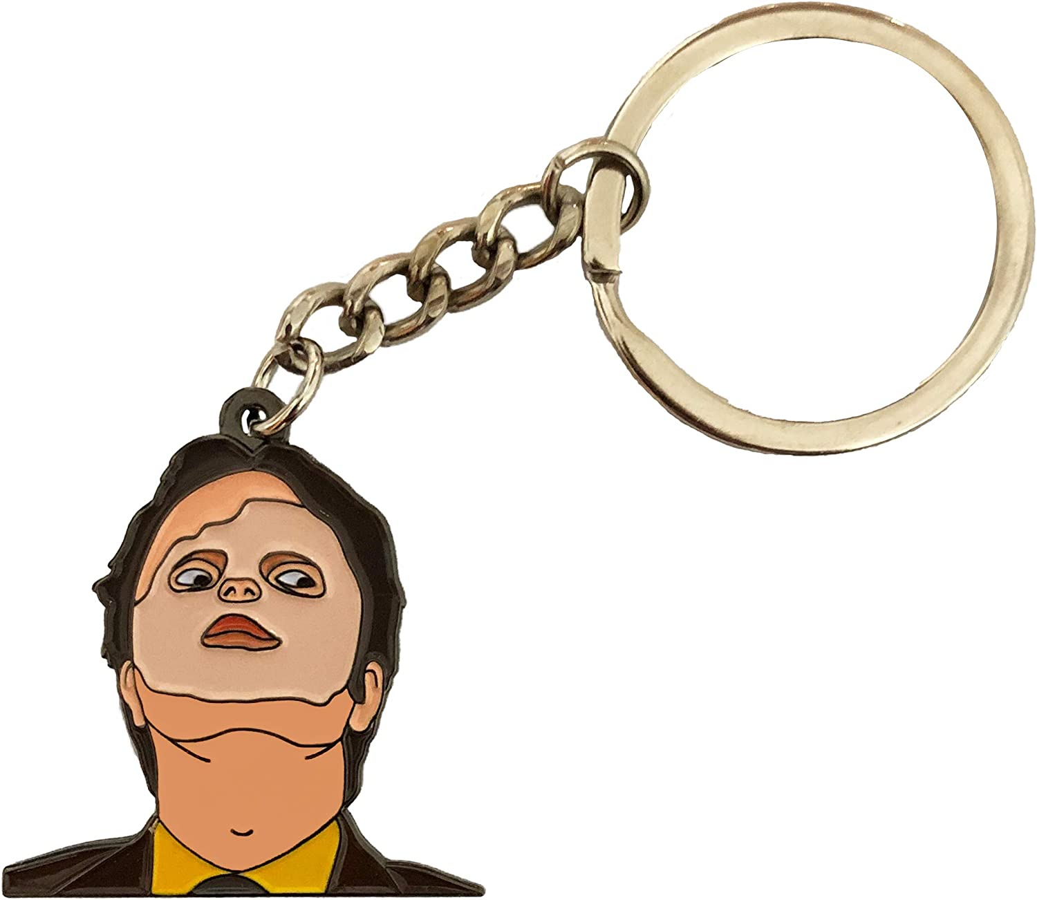 Balanced Co. Dwight Schrute Mask Keychain Rainn Wilson Keychain