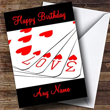 Amazon Love Playing Greetings Cards Romantic Personalized Birthday Card Office Products