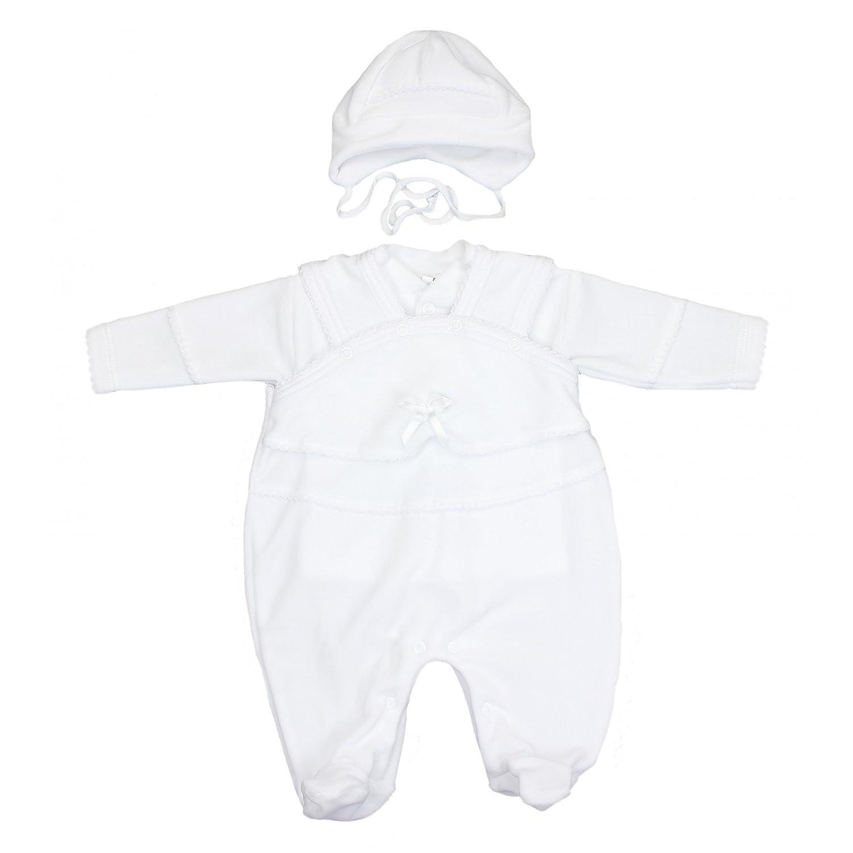 TupTam Unisex Baby Taufanzug Nicki 3-tlg. Set Farbe: Weiß Größe: 80