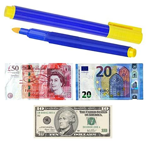 TRIXES Bolígrafos para Detectar Billetes de Banco, Chequear Billetes de Banco