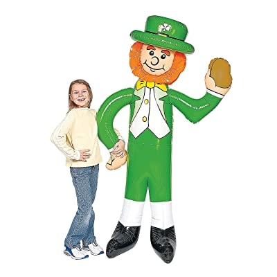 Fun Express Giant Inflatable Leprechaun for St. Patrick's Day (Over 5 feet Tall): Toys & Games