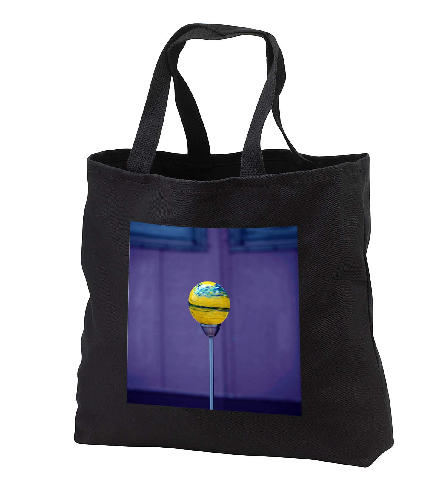 Jos Fauxtographee- Yard Ornament Glass - A Glass yard ornament on a purple backdrop - Tote Bags - Black Tote Bag 14w x 14h x 3d (tb_292383_1)