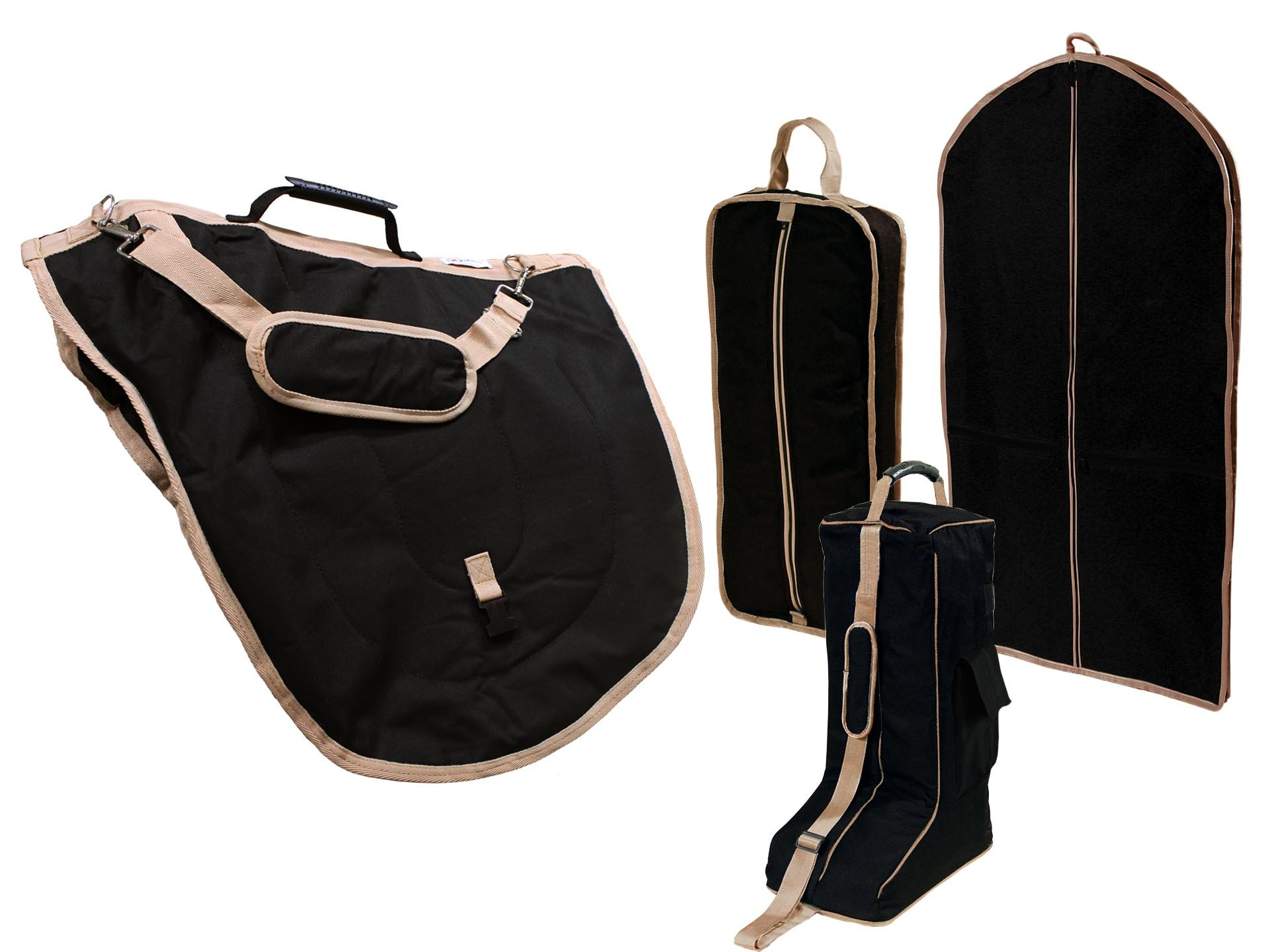 Derby English Horse Saddle, Bridle, Boot, and Garment Carry Bag Set with One year warranty by Derby Originals (Image #1)