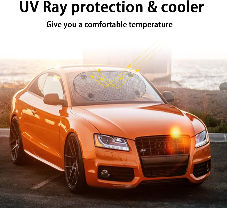 Lot de 5 pare-soleils de voiture Global protection contre les UV Lot de 4 pare-soleils pour fen/être lat/érale de voiture pour b/éb/é pour fen/êtres de voiture dor/és protection solaire compl/ète
