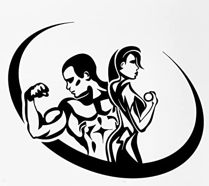 Amazon Com Fitness Bodybuilding Man And Woman Gym Wax Seal Stamp