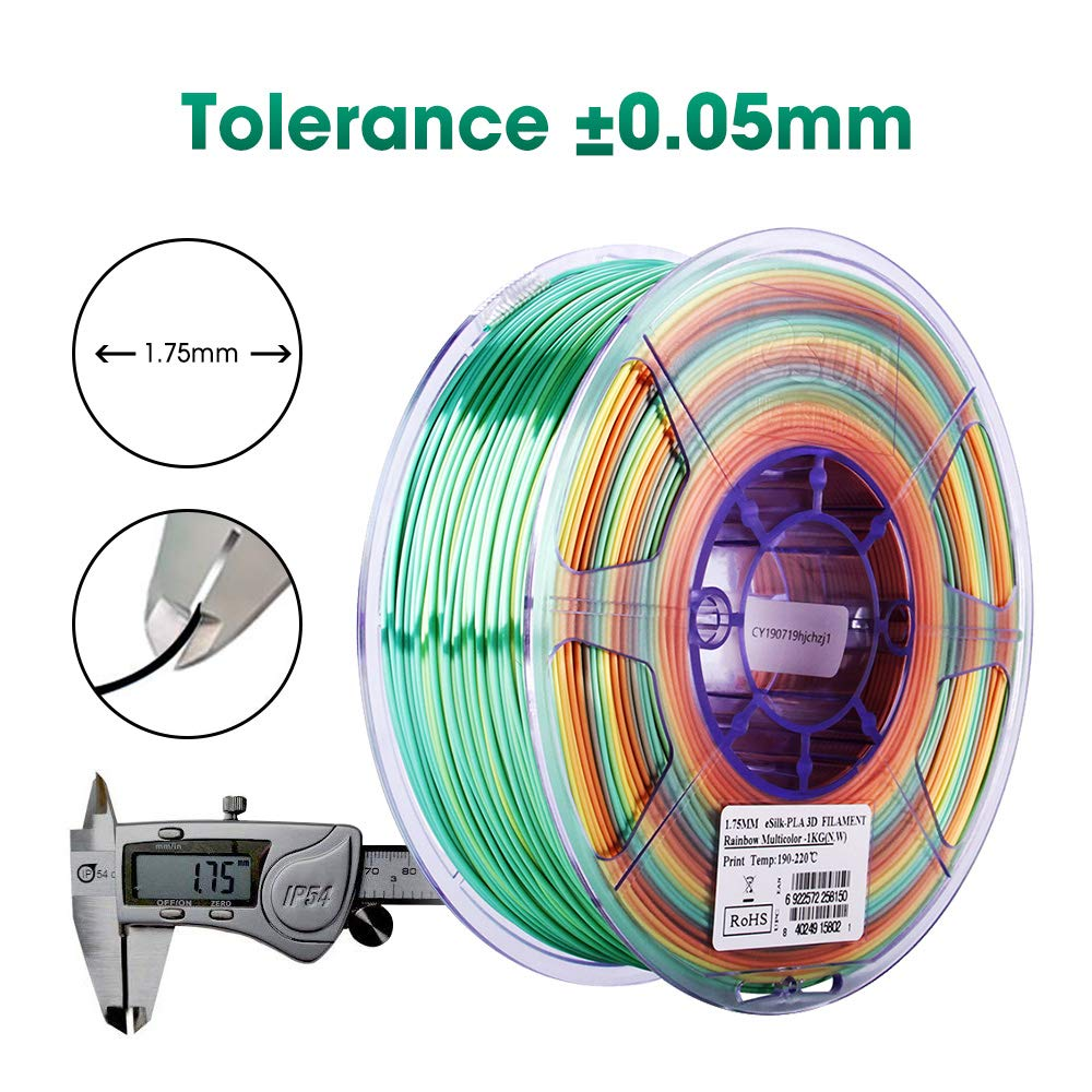 Dimensional Accuracy +//- 0.03mm eSUN PLA+ 3D Printer Filament Black 2.2 LBS 1KG Spool 3D Printing Filament for 3D Printers 1.75mm PLA Plus Filament