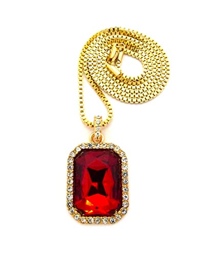 Mens hip hop iced out bird man rich gang red ruby pendant gold chain mens hip hop iced out bird man rich gang red ruby pendant gold chain necklace mozeypictures Choice Image