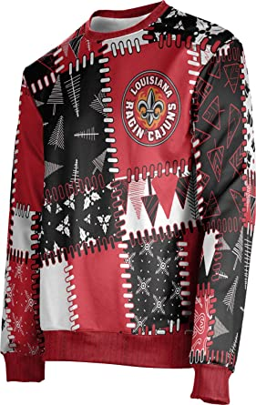 ProSphere Men/'s Louisiana Tech University Ugly Holiday Quilt Sweater Apparel