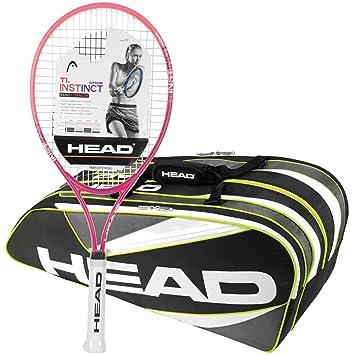 Head Ti. Instinct Supreme pre-strung raqueta de tenis con un paquete de una elite - Bolsa de tenis, 9R Supercombi: Amazon.es: Deportes y aire libre