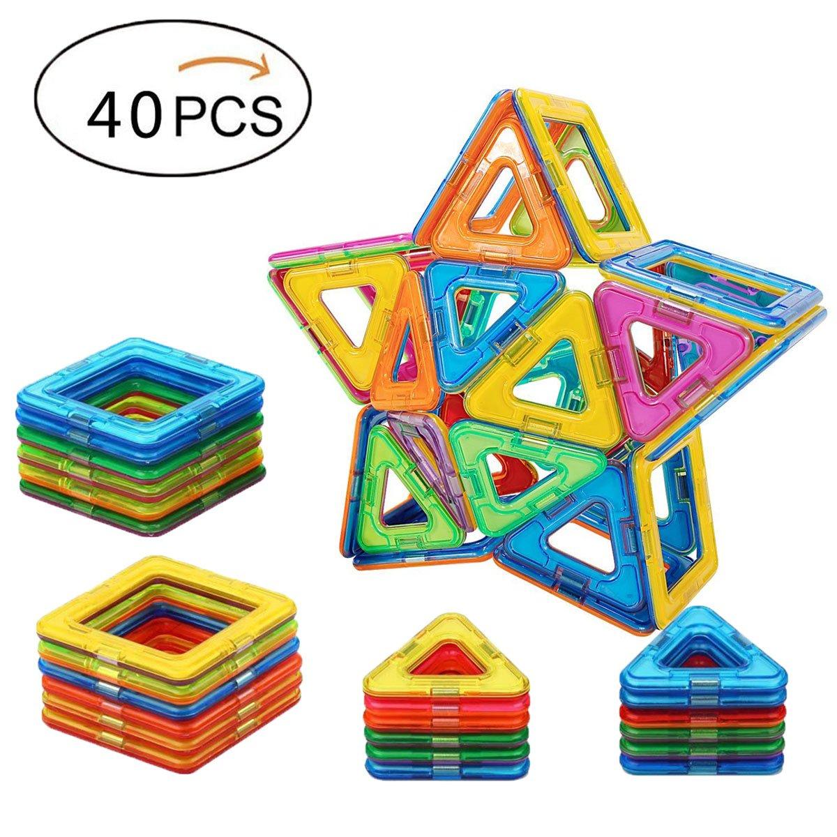 【メーカー公式ショップ】 Babite 40個磁気建物ブロックマグネットタイルConstruction Set教育Stacking Toys for Babite Kids for & Toddlers Toys withストレージボックス B072KGHHXR, パーツショップ アドバンス:b37da3dd --- dou13magadan.ru