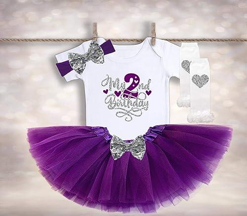 Groovy Amazon Com 2Nd Birthday Tutu Outfit Baby Girls 2Nd Birthday Personalised Birthday Cards Akebfashionlily Jamesorg