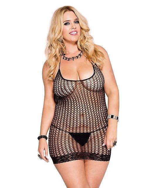 d06f00b0ed8 Amazon.com  Music Legs Women s Plus-Size Halter Neck Pothole Mini ...