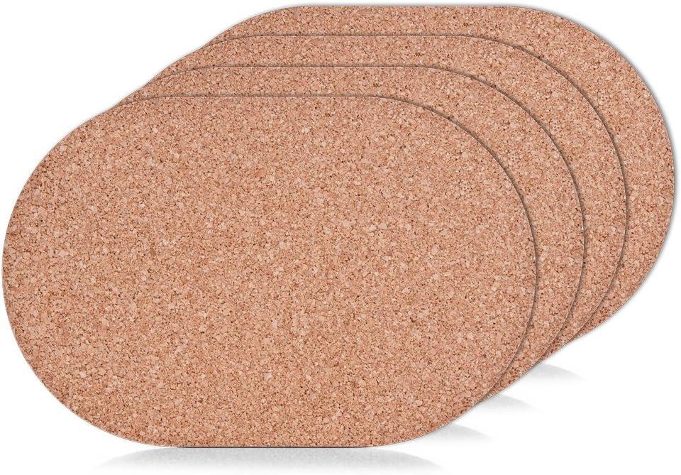 Cubre mesa de corcho ovalado 4 Unidades