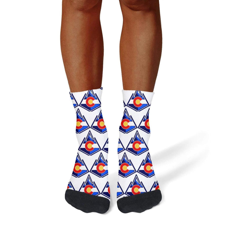 Tasbon Migny Hills Mens All-Season Sports Socks Colorado Flag Athletic Socks for Men