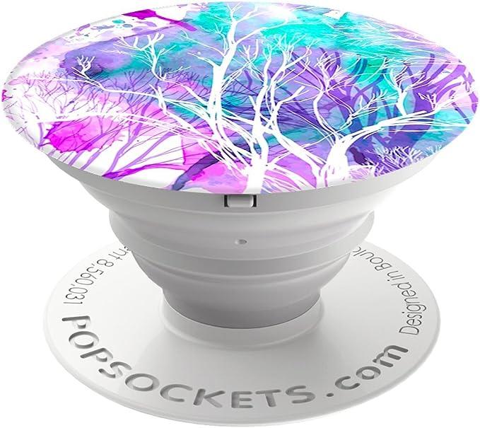 Popsockets Popgrip Nicht Austauschbarer Ausziehbarer Sockel Und Griff Für Smartphones And Tablets Trees Elektronik