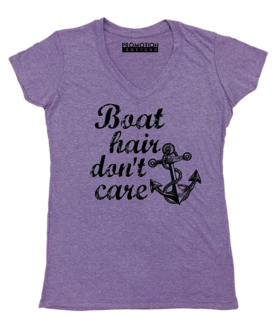 P&B Boat Hair, Don't Care Women's V-Neck