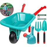 TeganPlay Wheelbarrow for Kids and Gardening Tool Set Outdoor Play for Boys Girls 3 and up