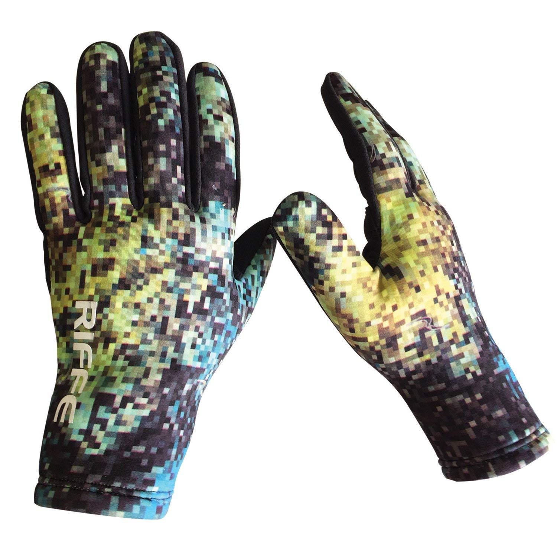 Riffe Black Amara/DIGI-TEK Camo Neoprene Spearfishing Glove (X Small) by Riffe