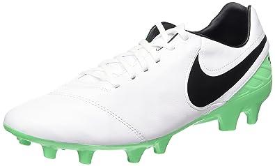 sports shoes 6eb01 e5e83 Nike Tiempo Mystic V FG, Chaussures de Football Homme, Blanc (White Black
