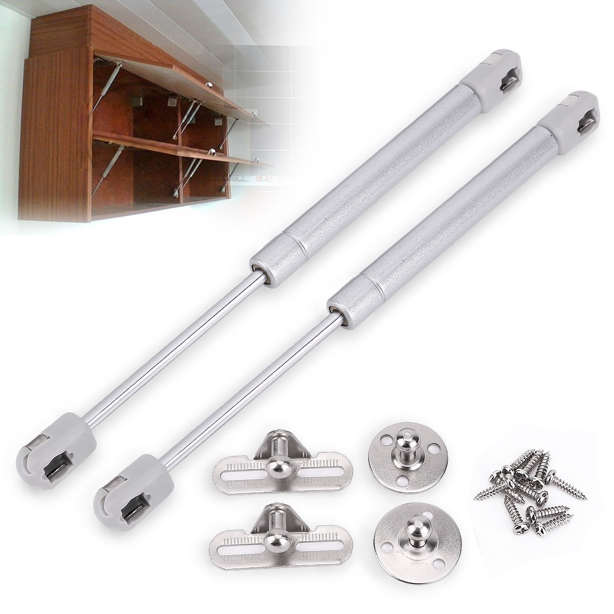 2x Gas Strut Lift Pneumatic Support Gas Spring Stay Kitchen Cabinet ...