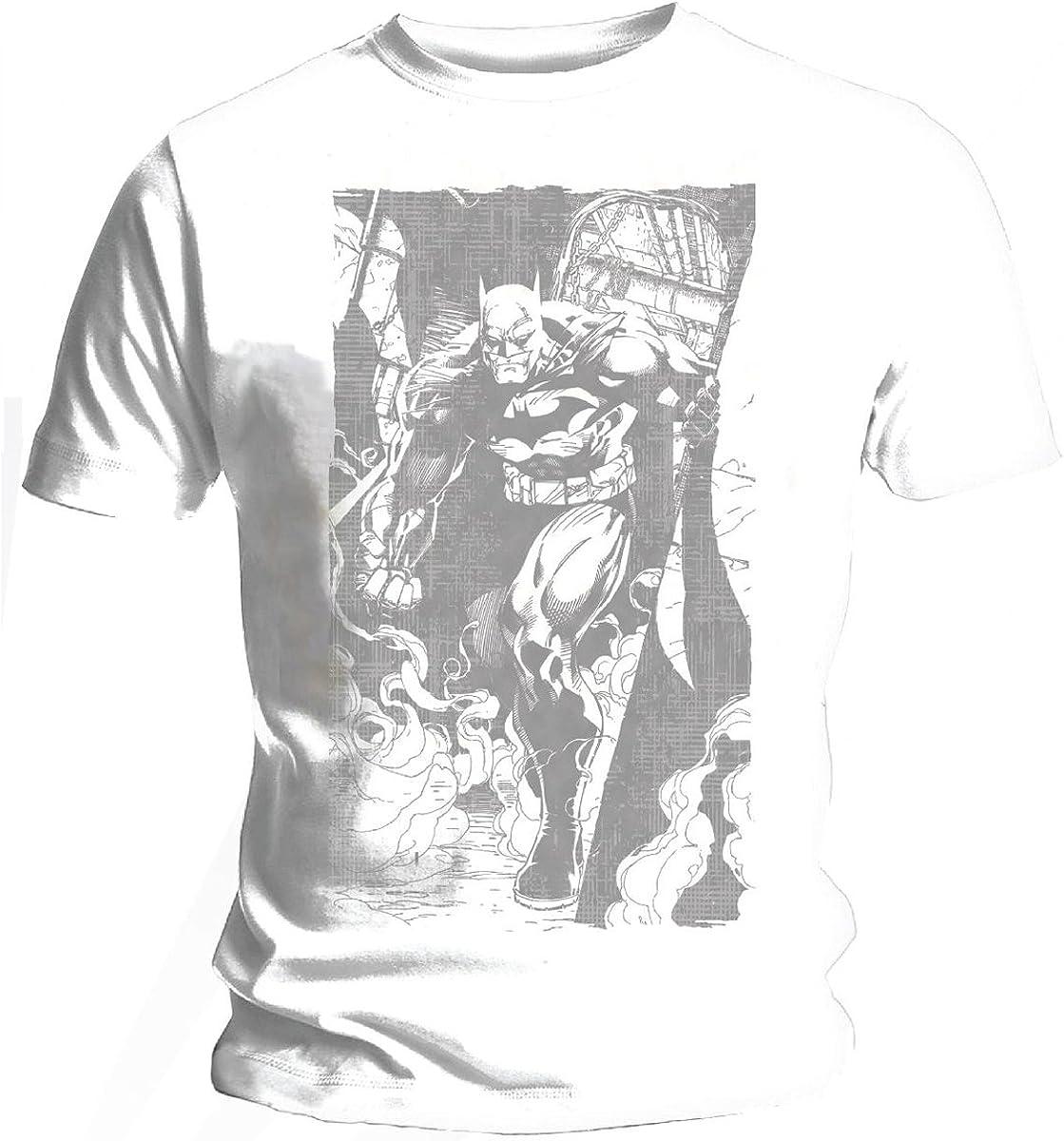 Oficiales Batman Jim Lee Smoke – Camiseta Weiß 34/36 cm ...