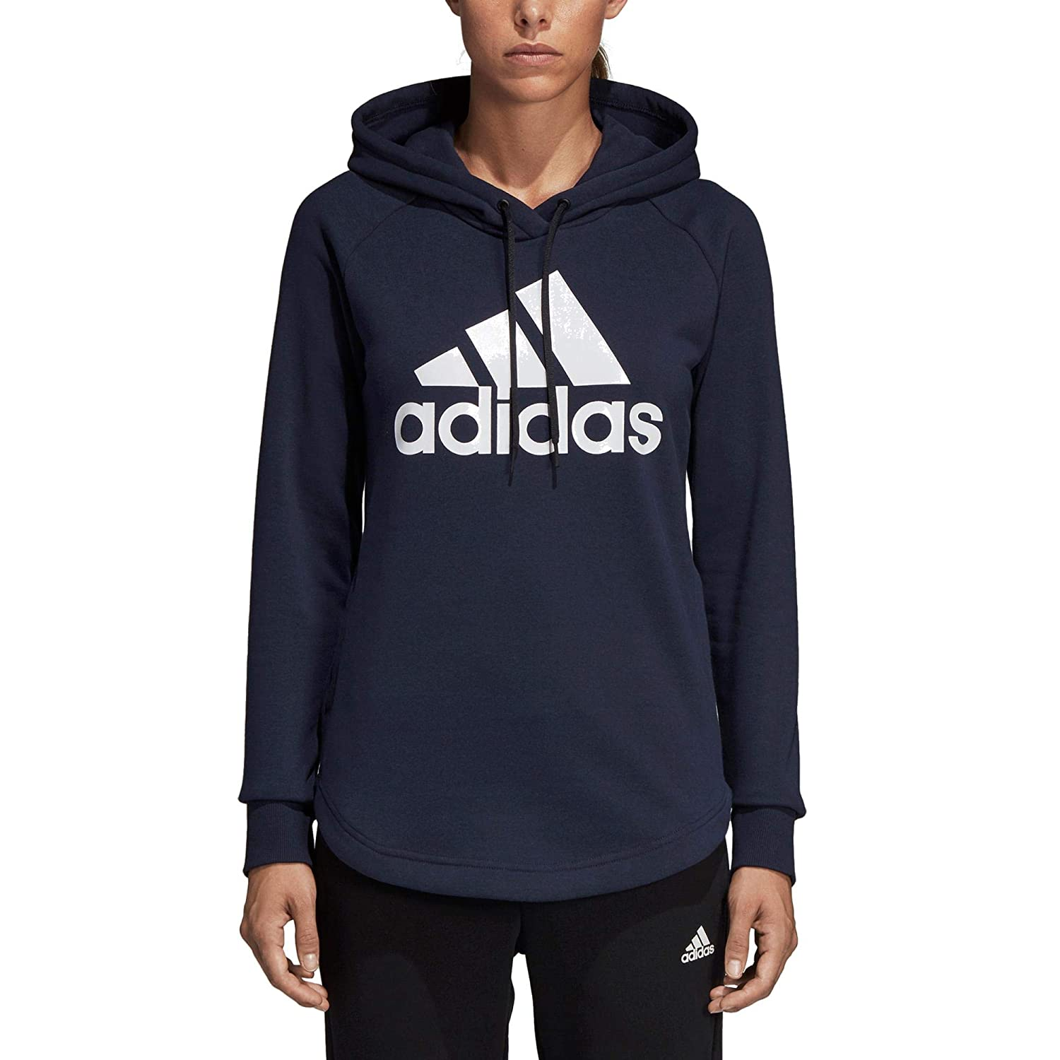 adidas Women s Must Haves Badge of Sport Hooded Sweatshirt  Amazon.co.uk   Sports   Outdoors e18b80e04a0