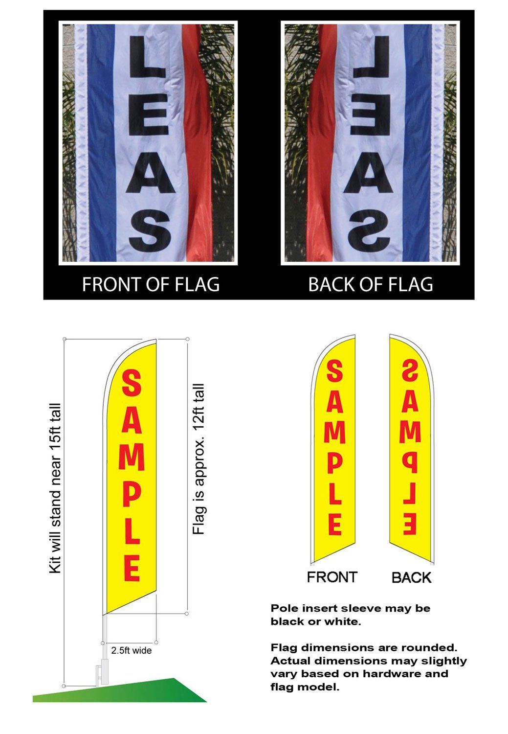 Barbeque BBQ Advertising Feather Banner Swooper Flag Sign with Flag Pole Kit and Ground Stake by FFN