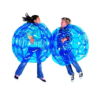 Inflatable Bumper Balls - Inflatable Battle Body Bubble Ball Bumper Bopper Gifts for Kids and Adults (90cm Blue): Toys & Games