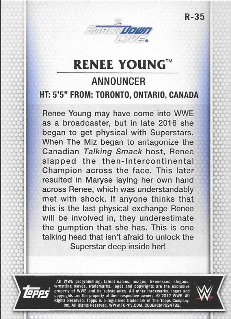 2017 Topps WWE de Women Division Renee Young R-35 Lot de 2