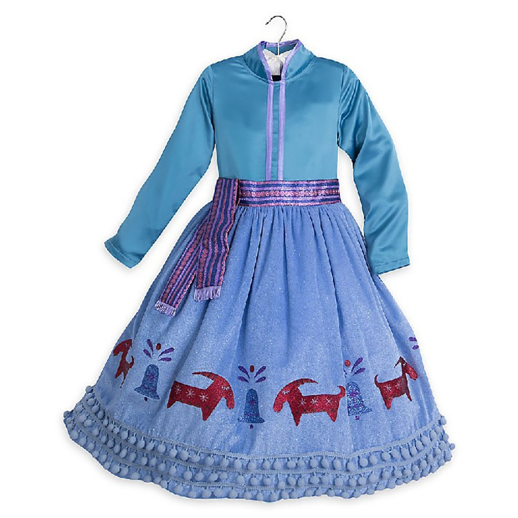 DreamHigh Halloween Princess Anna Costume Girl's Dress with Coat 2pcs 10 by DreamHigh (Image #4)