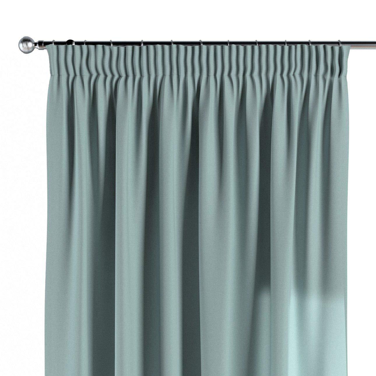 Dekoria Vorhang mit Kräuselband Dekoschal Blickdicht 1 Stck. 130 × 260 cm mintgrün Maßanfertigung möglich