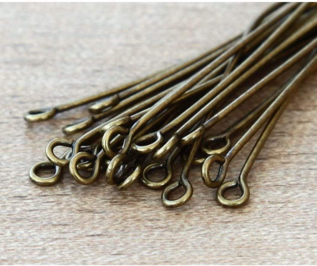 200pcs Top Quality Silver Eye Pins 22mm for Jewelry Beading Craft Making CF157-22 wire~21GA