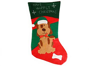 dog christmas stocking amazoncouk kitchen home - Amazon Christmas Stockings