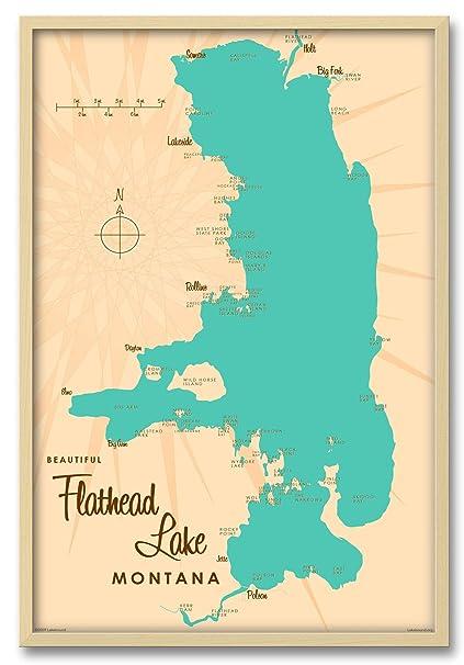 Flathead Lake Map Amazon.com: Flathead Lake Montana Map Professionally Framed Wall  Flathead Lake Map