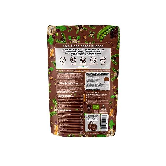 Proteína Vegana de Chocolate - Natural Athlete - 70% de proteína - 100% Natural - BIO - Sin Gluten - Sin Lactosa - Sin Azúcar añadido - Sin Aditivos ...