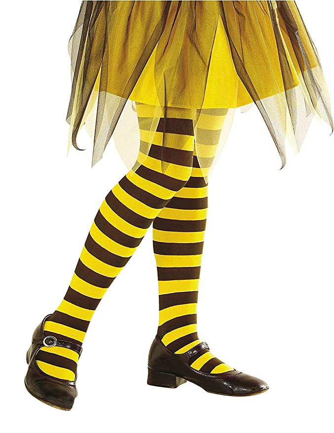 Feinstrumpfhose Bienen Strumpfhose Gelb-Schwarz Ringelstrumpfhose Bienchen Biene