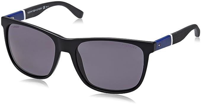 10b9dc43708c6 Tommy Hilfiger Unisex-Adult s TH 1281 S 3H Sunglasses, Bk Bluewhtgry, ...