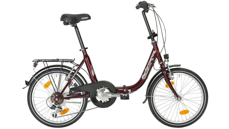 Performance bicicleta plegable para Viena, 20 pulgadas, 6 velocidades, V de frenos: Amazon.es: Deportes y aire libre