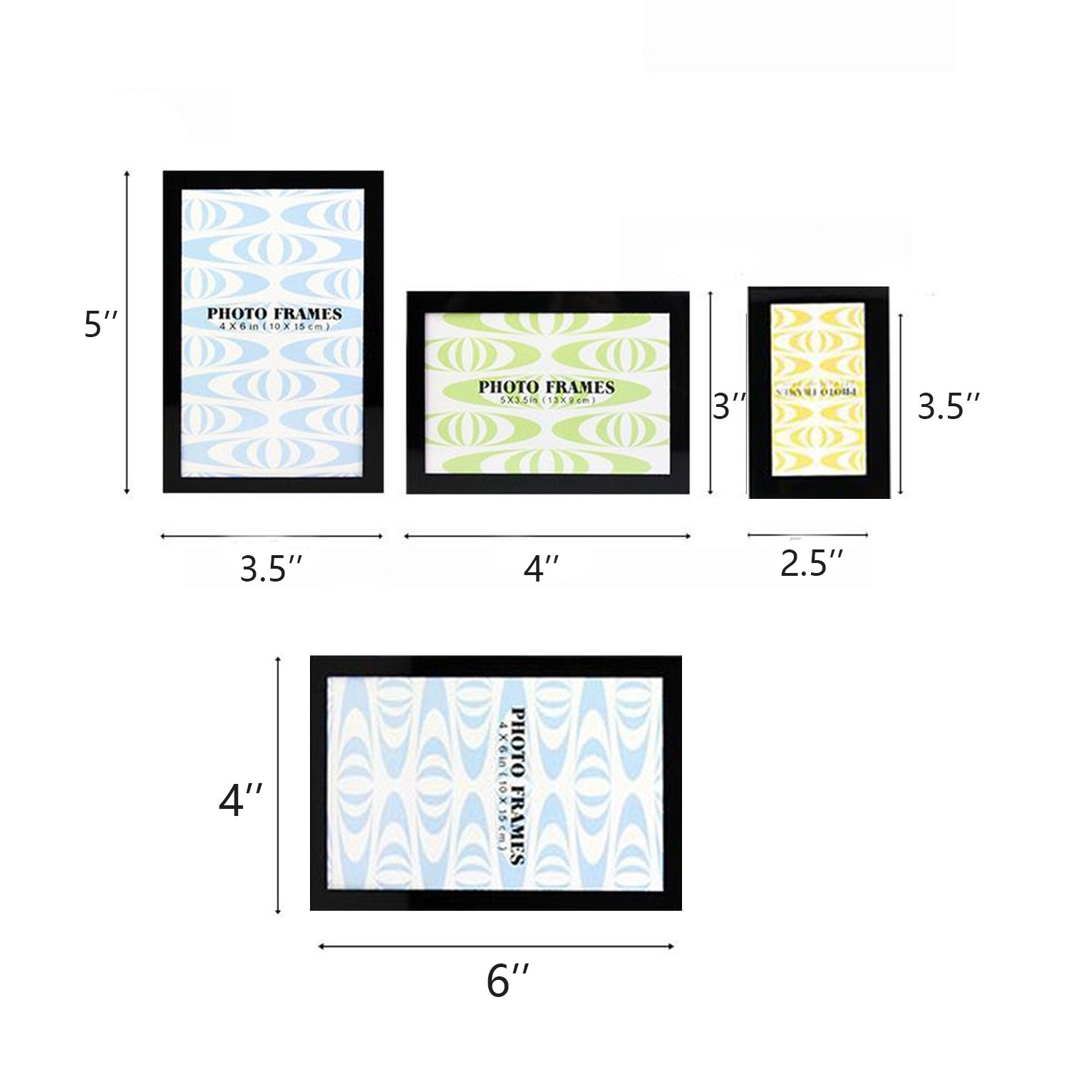 Lausatek Magnetic Picture Frame Photo Collage For Refrigerator