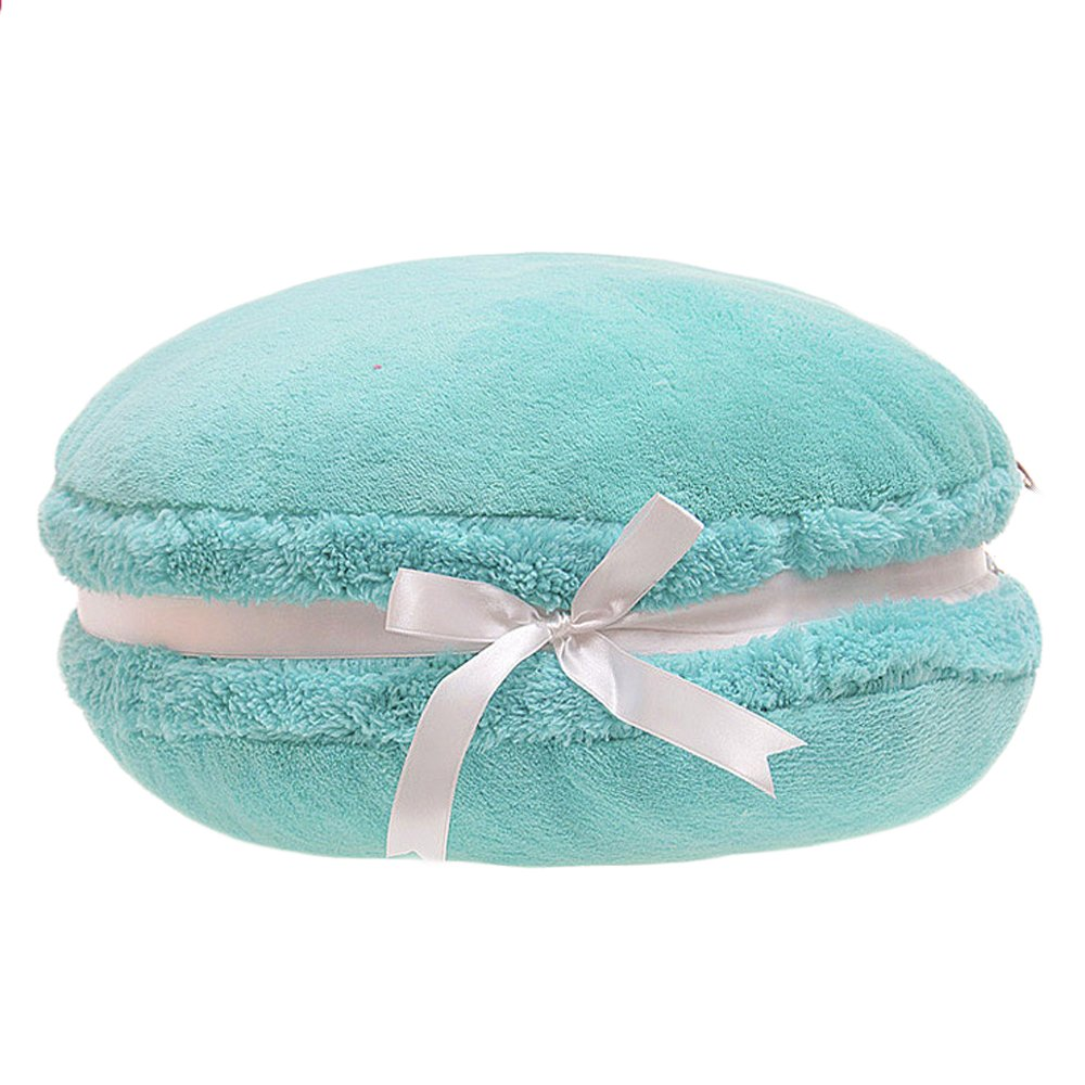ChezMax Creative Macaron Shaped Cushion Plush Round Pillow Decorative Throw Pillow 14.5''Blue