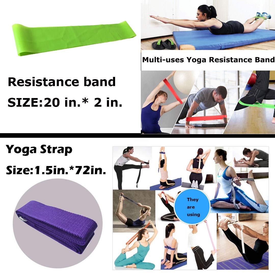 Vinsisty Yoga Set Gift 6 Piece Essentials Beginners Bundle Portable Basic Stretching Supplies Yoga Accessories kit